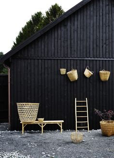 baskets and bamboo