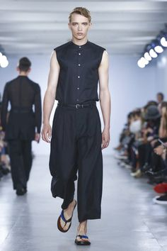 """Speaking after his show, in the final slot on London's schedule, Korean designerZio Songoffered a brand's perspective:""""I used to always show in Paris; I studied ..."""