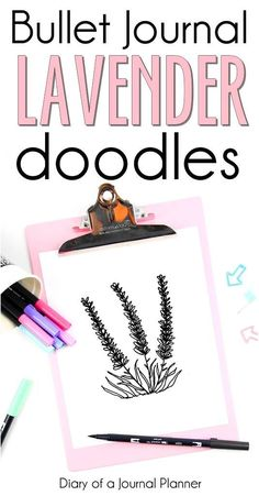 Kunst Zeichnungen - How to make bullet journal lavender drawings - Beste Art Pins May Bullet Journal, Bullet Journal For Beginners, Bullet Journal Junkies, Bullet Journal Layout, Bullet Journal Inspiration, Bullet Journals, Art Journals, Journal Ideas, Doodle Diary