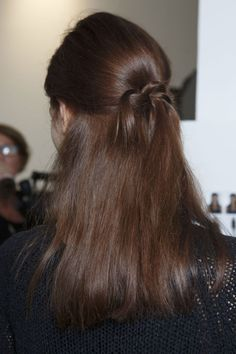 Knotted hair at Zero + Maria Cornejo: http://beautyeditor.ca/2014/09/19/spring-2015-beauty-trends-new-york