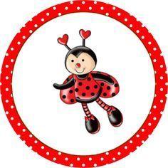 Joaninha - Kit Completo com molduras para convites, rótulos para guloseimas, lembrancinhas e imagens! - Fazendo a Nossa Festa Baby Ladybug, Ladybug Party, Diy And Crafts, Crafts For Kids, Paper Crafts, Lady Bug, Painting For Kids, Art For Kids, Bug Tattoo