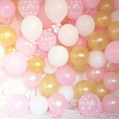 Pink and gold balloons