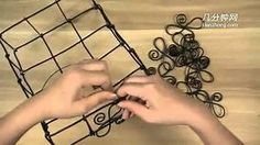 Step by Step How To Make a Basket in Aluminum Wire. In Japanese but clear step by step video tutorial