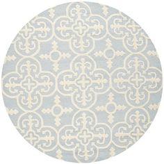 Safavieh Handmade Cambridge Moroccan Light Blue Tufted Wool Rug (6' Round)