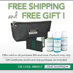 Mario Badescu - Jan 2013 offer: Free Shipping and Free Gift    USE CODE: MB2013
