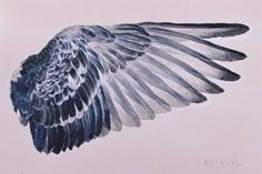 Original Animal Painting by Anna Rzaeva Back Drawing, Wings Drawing, Feather Art, A Level Art, Bird Drawings, Angel Art, Figurative Art, Art Sketches, Art Inspo
