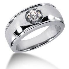 0.50 ct. Solitaire Diamond Men's Ring
