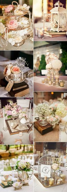 vintage wedding centerpiece ideas #weddingideas                                                                                                                                                                                 More