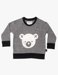 Hux Bear Sweater - Chatcoal/Gold