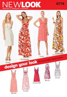 New Look Pattern: NL6774 Misses Dress — jaycotts.co.uk - Sewing Supplies
