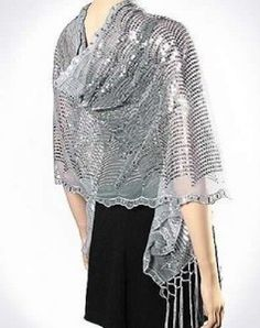 GOLD WAVE SEQUIN Formal Evening Party Shawl Wrap Scarf