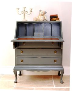 Vintage Painted Bureau
