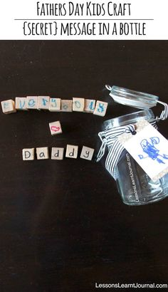 Fathers Day Kids Craft: Secret Message from Lessons Learnt Journal