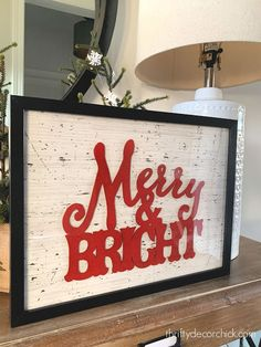 TONS of easy and fun holiday wall decor ideas from Thrifty Decor Chick Glitter Blast Spray Paint, Holiday Crafts, Holiday Fun, Framed Botanical Prints, After Christmas Sales, Christmas Art, Christmas Ideas, Christmas Decorations, Thrifty Decor Chick