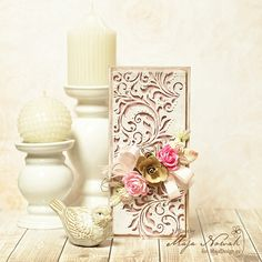 CraftHobby Oliwiaen - Openwork Background Wedding Card / Ażurowa kartka ślubna
