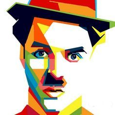 Chaplin WPAP by adityasp on DeviantArt Art And Illustration, Portrait Illustration, Pop Art Portraits, Portrait Art, Tableau Pop Art, Polygon Art, Geometric Art, Vector Art, Modern Art