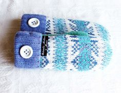 upcycled sweater mittens by miraclemittens on Etsy
