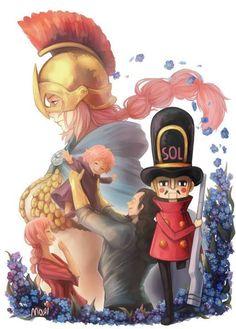 Soldier-san and Rebecca - Dressrosa Arc