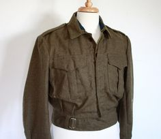 Vintage 1963 Men's US Wool Military Jacket