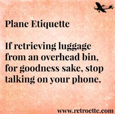How Not to be Rude on an Airplane | Retroette