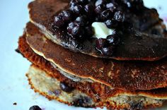 those of us who are allergic to eggs: rejoice! pancakes are possible! blueberry and almond flavors burst out of these fluffy goodies.