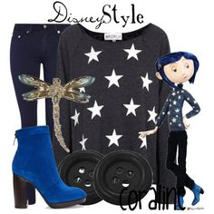 """Disney Style : Coraline"" by missm26 on Polyvore"