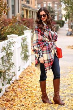 Woohoo! Flannels, scarves, and boots for days!