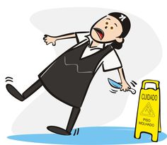 Ilustração acidente de trabalho