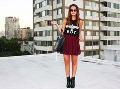 Shop this look on Kaleidoscope (top, skirt)  http://kalei.do/X4VoaAxLgqfk0PWw