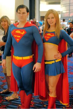Superman & Supergirl - these people do a great job: costumes are made very well, and they look the part.  But all I can see now is how ridiculous Superman's outfit is, and how freaking sexist Supergirl's is.  Seriously, who goes out to fight Mongul with her belly out?