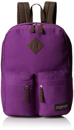 JanSport Hoffman Backpack - Vivid Purple / 16.7'H x 13'W x 7'D *** For more information, visit now : Backpacking bags