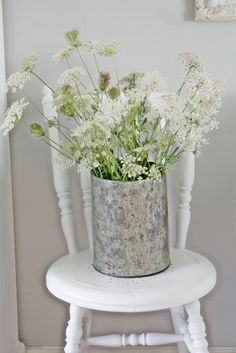 """I think these """"flowers"""" are called """"Queen Anne's lace"""" and they grow everywhere here.  I love them, so don't be surprised if you see me roaming the fields with a pair of scissors :)"""