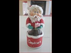 Pote Papai Noel - Biscuit / Porcelana Fria - YouTube