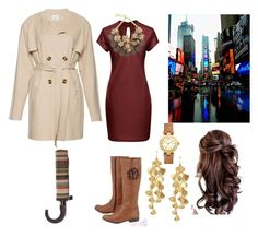 """""""Raining in the City"""" by madiloo1999 ❤ liked on Polyvore featuring Forest of Chintz, Missoni and Tory Burch"""