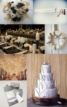 Winter Wedding ideas. Love the trees all lit up!!