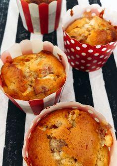 Muffins de damascos y chocolate blanco