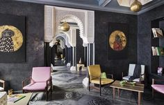 Riad Goloboy is a luxury boutique hotel in Marrakesh, Morocco. Book Riad Goloboy on Splendia and benefit from exclusive special offers ! Riad, Design Marocain, Style Marocain, Morocco Hotel, Marrakech Morocco, Marrakech Hotels, Morocco Travel, Wallpaper Magazine, Hotel Lobby