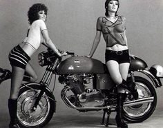 Edwige Fenech & motorcycle, the Case of the Bloody Iris, 1972