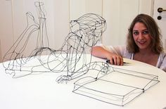 Art, design, and visual culture. Wire Mesh Figures of Children Appear to Dissolve into Thin Air by Christopher 3d Zeichenstift, Boli 3d, Sculptures Sur Fil, Wire Art Sculpture, Wire Sculptures, 3d Drawing Pen, Stylo 3d, 3d Art, Creative Activities For Kids
