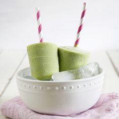 Creamy Avocado Green Tea Popsicles
