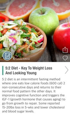5:2 Diet - Key To Weight Loss And Looking Young - via @CureJoy