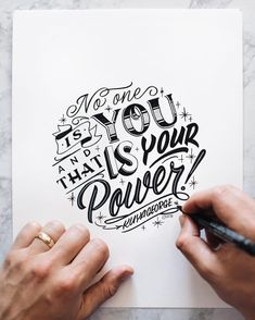 No one is you and that is your power! by kuyageorge#typography…