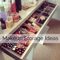 Makeup Storage Ideas and a way better amount of makeup than 1,000,000,0000