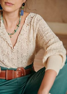Crochet Buttons, Knit Crochet, Look Fashion, Autumn Fashion, Modest Fashion, Fashion Outfits, Outfits Winter, Denim Noir, Mode Simple