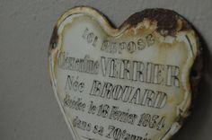 Vintage French Memorial Plaque by housewarming101 on Etsy