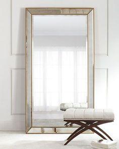 Aldina+Golden-Beaded+Floor+Mirror+at+Neiman+Marcus.