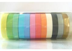 Pastel Washi Tape Narrow Japanese Masking Tape