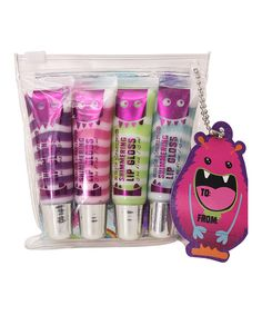 Another great find on #zulily! Monsters Shimmer Swirl Lip Gloss Set by Tri-Coastal Design #zulilyfinds
