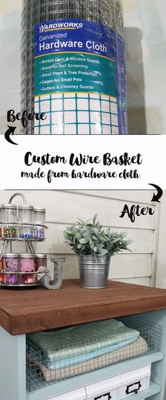 How To Create Your Own Wire Baskets - www.michellejdesigns.com - It seems I can never find the right sized wire basket for my space. This tutorial will teach you how to create your own!