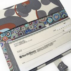 Checkbook Cover - Inside view   Flickr - Photo Sharing! Would be easy to make